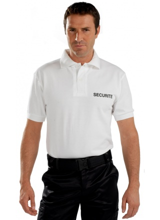 POLO SECURITE BLANC