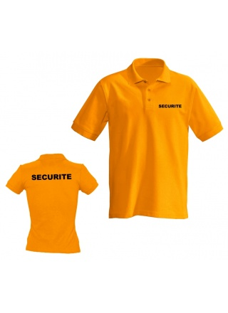 POLO ORANGE MANCHE COURTE SECURITE