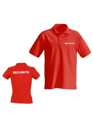 POLO ROUGE MANCHE COURTE SECURITE