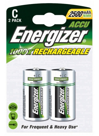 PILE RECHARGEABLE ENERGIZER NIMH HR14 - LOT DE 2