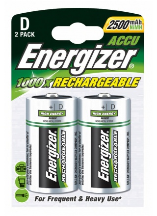 PILE RECHARGEABLE ENERGIZER NIMH HR20 - LOT DE 2
